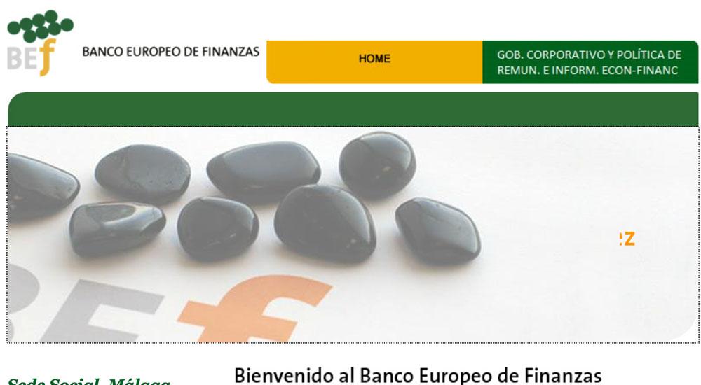Información sobre Banco Europeo de Finanzas