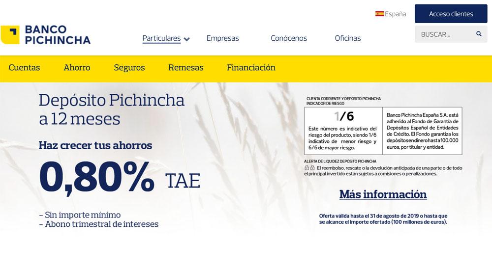 Información sobre Banco Pichincha