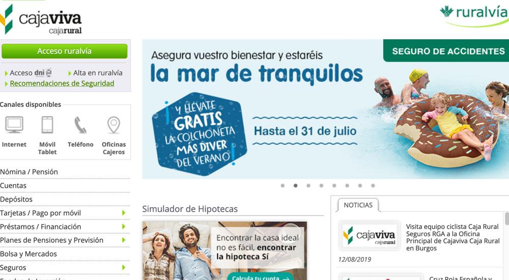 Información sobre Cajaviva Caja Rural