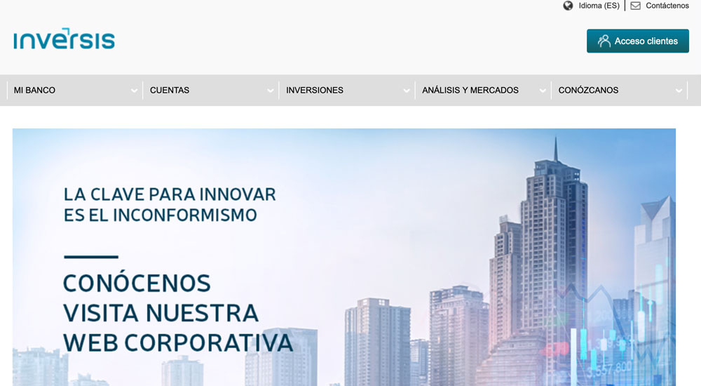 Información sobre Banco Inversis