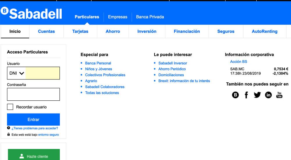 Información sobre Banco Sabadell