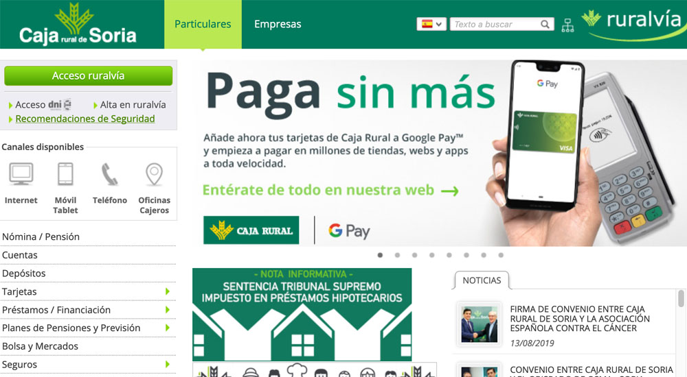 Información sobre Caja Rural de Soria